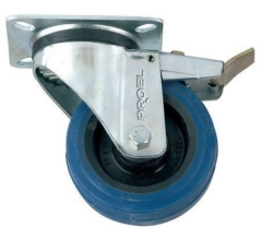 Proel  Flightcase Wheel  Swivel Type 100mm+Brake  BLUE
