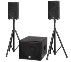 "B52  Active Speaker System  BBE Processor  1200W  15""+2x10"""