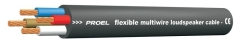 Proel Flexible Speaker Cable  Twisted  4 x 2.5mm²  BLACK