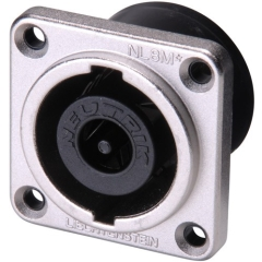 Neutrik  Speakon Connector  8 Pin  Panel Mount  MALE  SQUARE