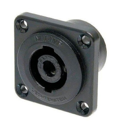 Neutrik  Speakon Connector  4 Pin  Panel Mount  MALE  Metal
