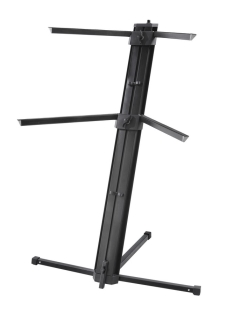 Die Hard  Keyboard Stand  Double Tier  Column Style  BLACK