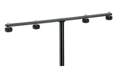 K&M Mic Stand Accessory  T Bar for 4 Mics  Adjustable