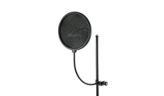 K&M  Mic Pop Shield on Gooseneck Fitting  BLACK