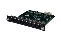 Mic/line input module - 8 controllable preamps with XLR
