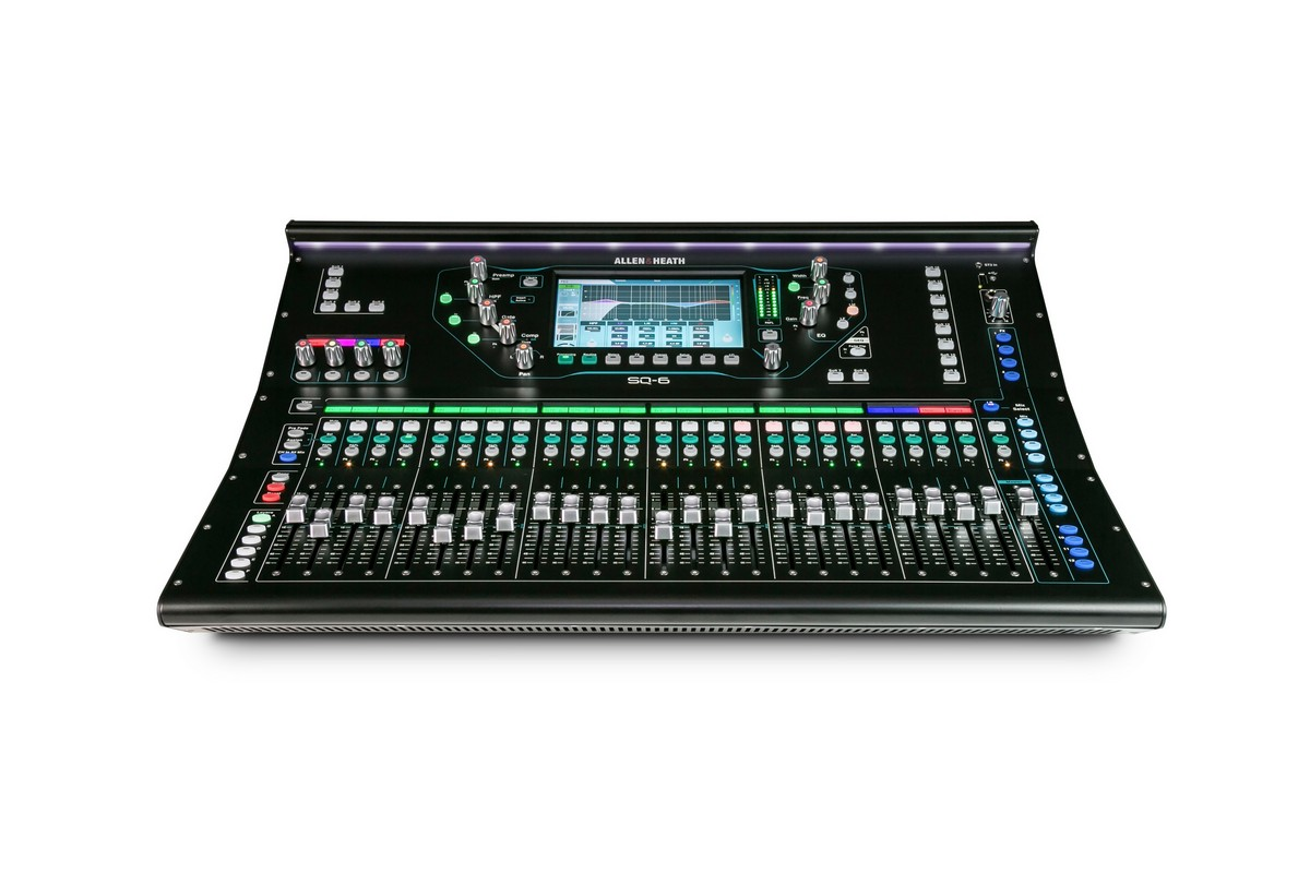 SQ6 48Ch Digital Mixer, 96kHz, 27 In  17 Out, 8FX