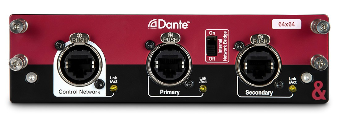 Dante Audio Interface Card for dLive & Avantis Mixers