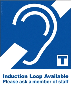 Inductive Loop Adhesive Pictogram BLUE